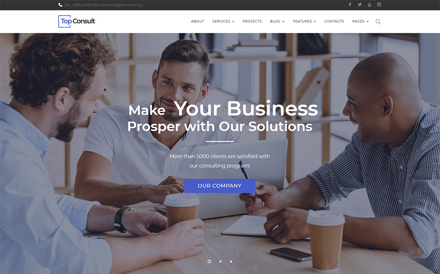 Business Consulting WordPress Theme