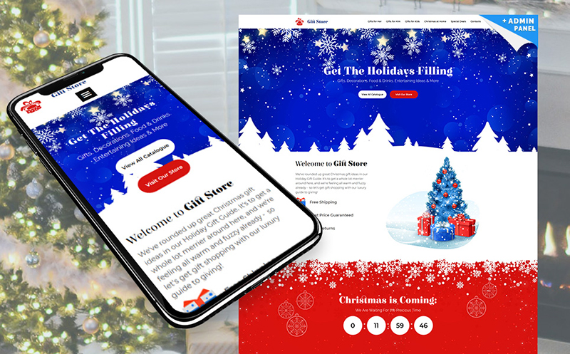 Gift Store - Christmas Landing Page Template