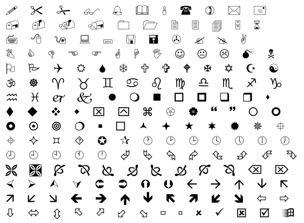 More wingdings text in seo social media