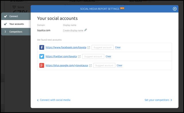 SEMrush social media monitoring
