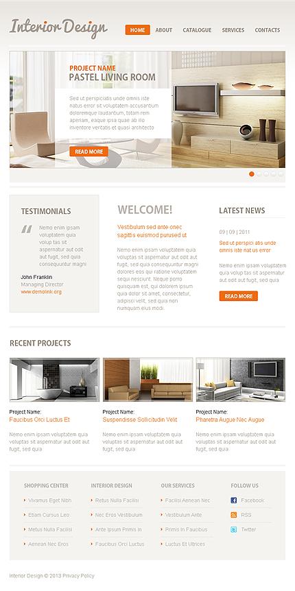 Interior Design Facebook Template
