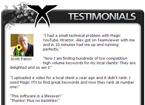 Magic YouTube Xtractor Testimonials 2