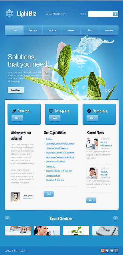 Management Company Facebook Template