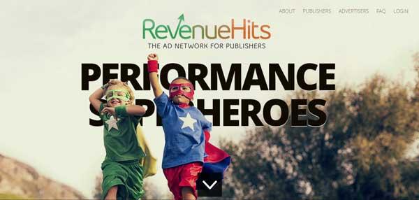 RevenueHits ad network Google Adsense Alternatives for Bloggers