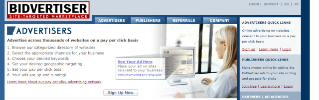BidVertiser Pay Per Click Advertising On Sites Of Your Choice.