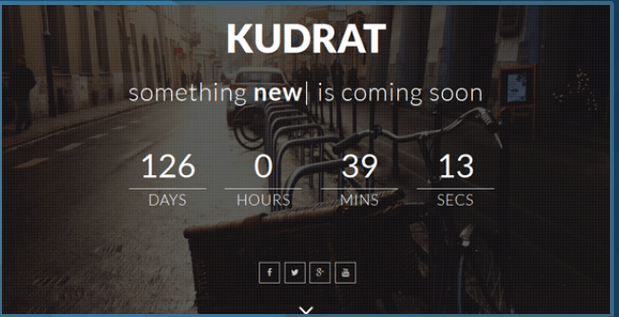 Kudrat Responsive Coming Soon Template HTML Bootstrap Template BootstrapBay
