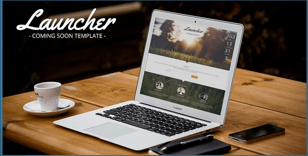 Launcher Coming Soon Template HTML Bootstrap Template BootstrapBay