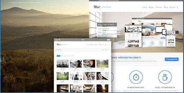 Mist Business Portfolio Theme HTML Bootstrap Template BootstrapBay