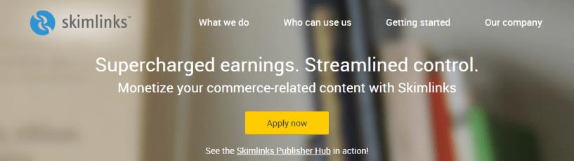 Skimlinks Affiliate marketing made easy