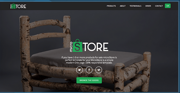 microStore OnePage ecommerce Theme HTML Bootstrap Template BootstrapBay