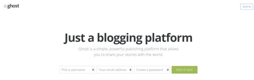 Ghost blog platform