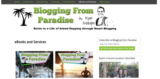 selling ebooks Ryan Biddulph from Blogging from Paradise