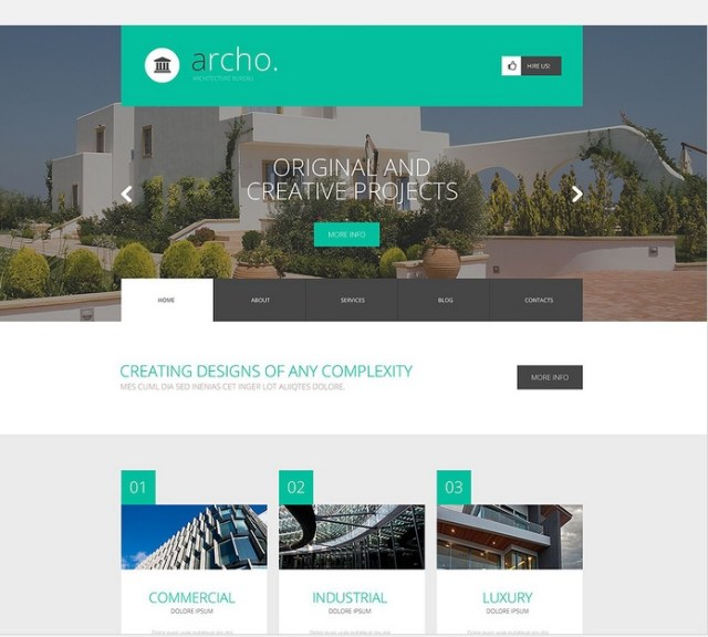 Creative Building Design WordPress Template