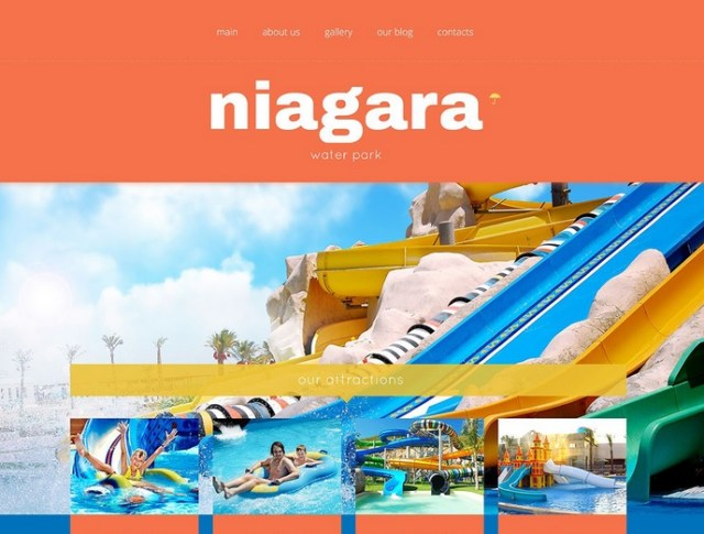 Fun Water Park WordPress Template