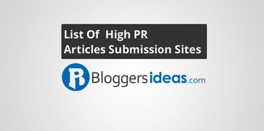 High PR Articles Submission Sites