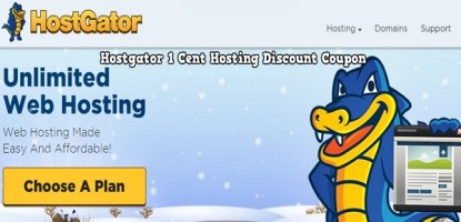 Hostgator 1 Cent Hosting Discount Coupon