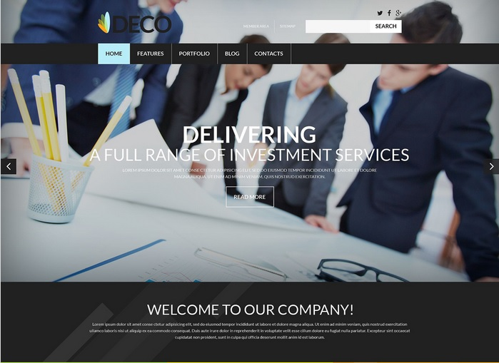 Investment Company WordPress Site