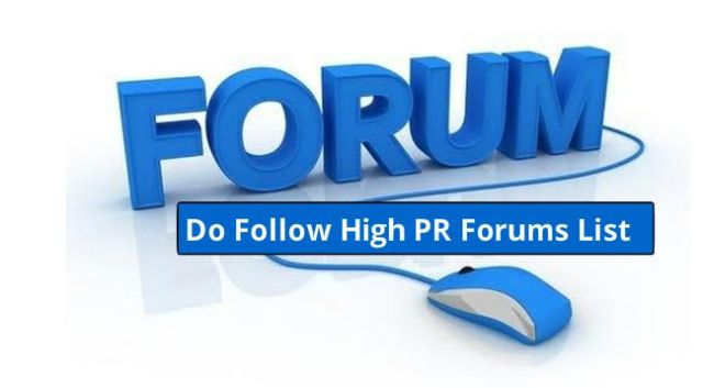 high pr forums sites list