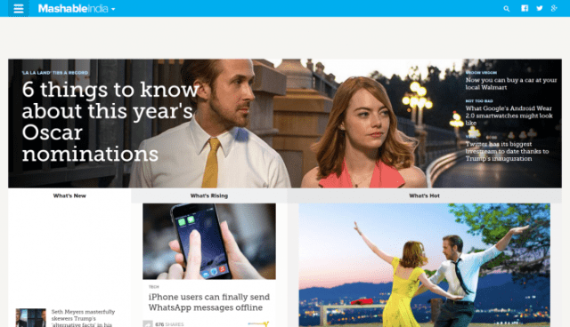 Mashable best tech news site