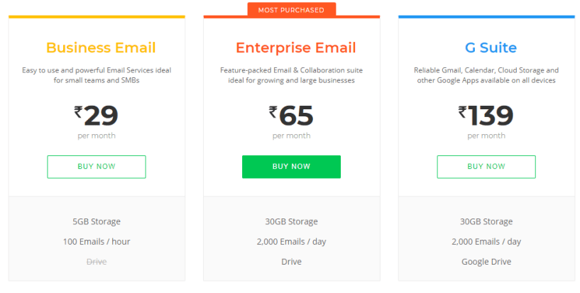promo codes for bigrock hosting- email hosting
