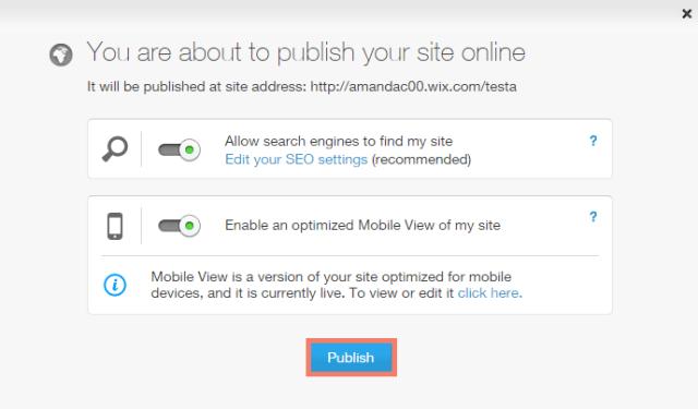 wix online store publishing