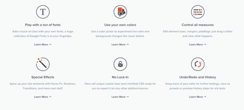 CSS Hero  features Customize WordPress Themes Live   Visual CSS Editor