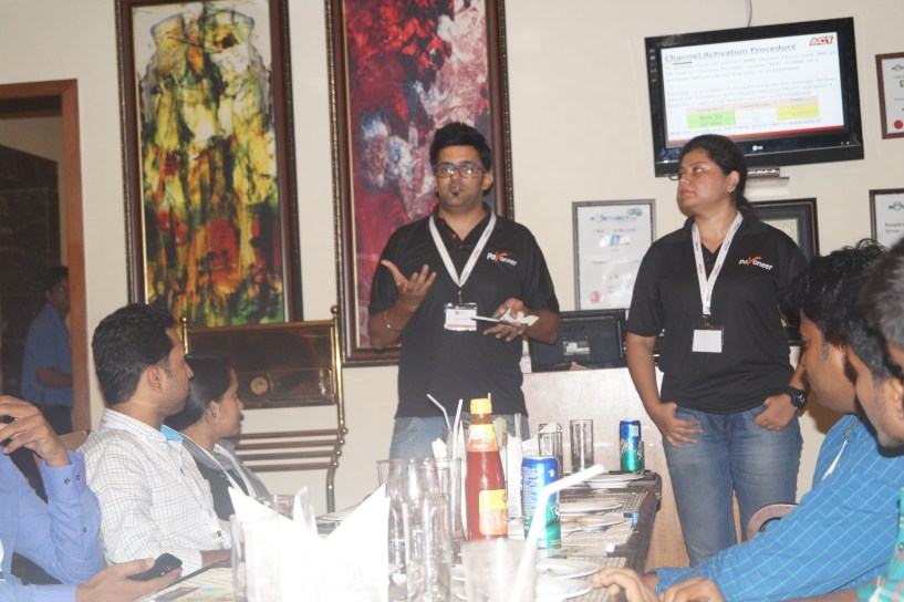 Me speaking at Payoneer Networking Dinner 31st May 2015 Bangalore