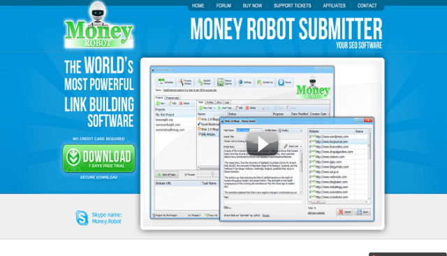 Money Robot - Make Powerful backlinks