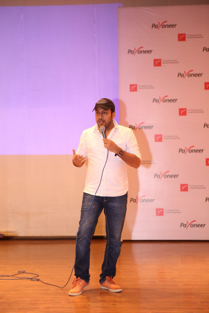 Ankur Agarwal at payoneer forum delhi India