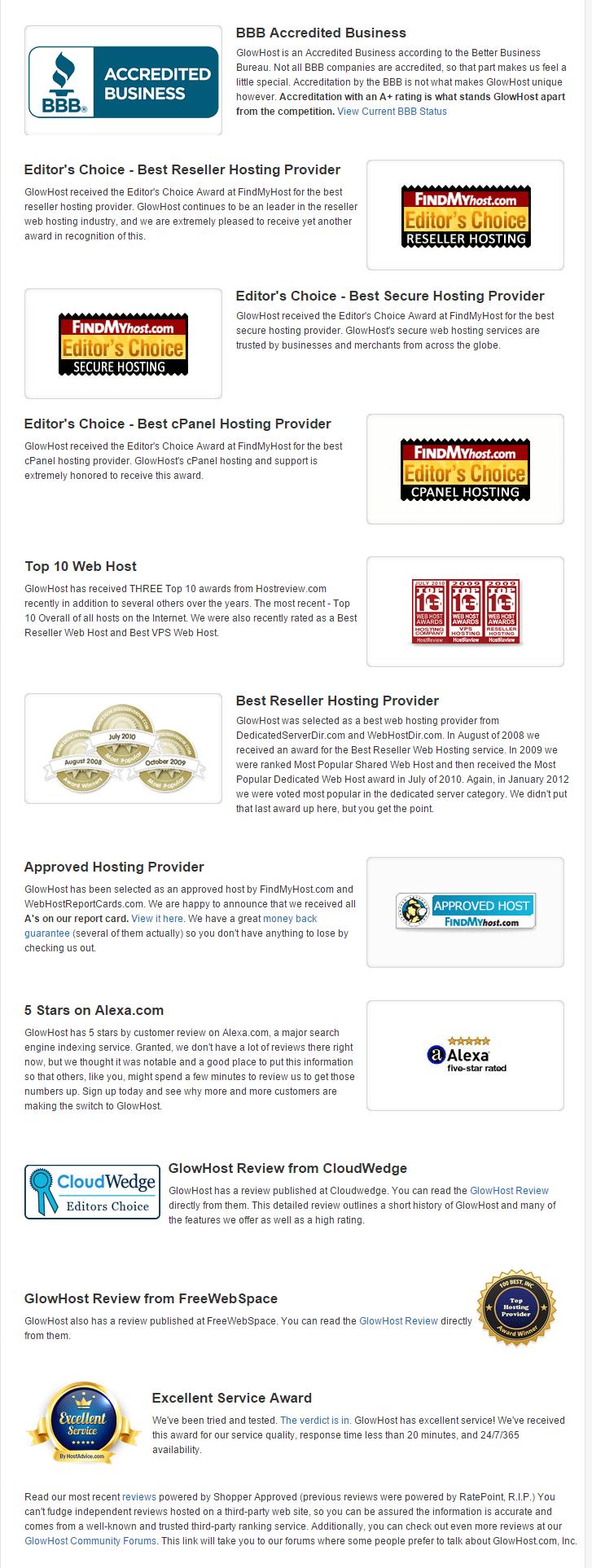 Glowhost Coupon Code - Award Winning Web Hosting
