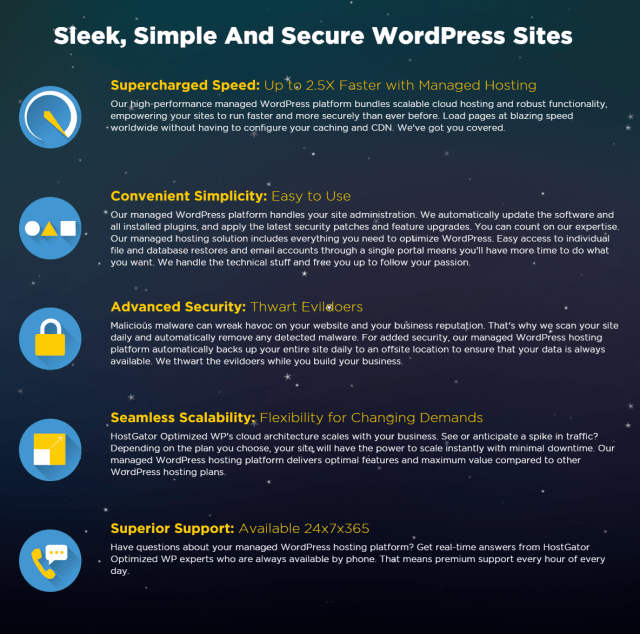 HostGator Managed WordPress Hosting Optimized For Speed Security