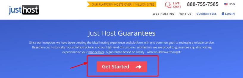 JustHost coupon code -Web Hosting Guarantees