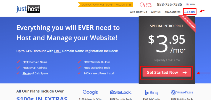 Justhost coupon code - get started