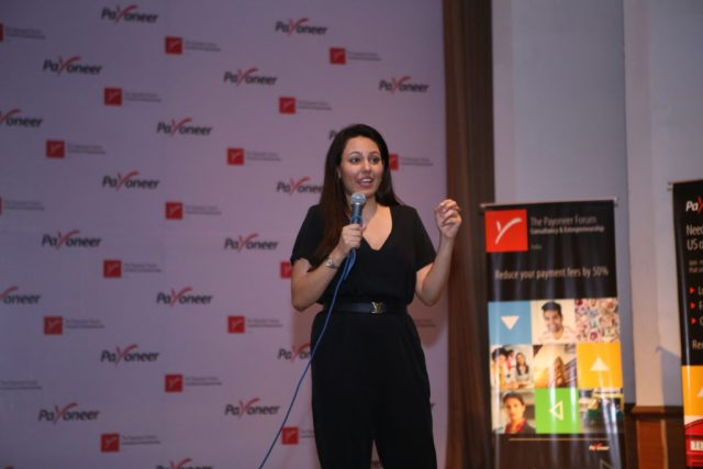 Ritu David at payoneer forum delhi India