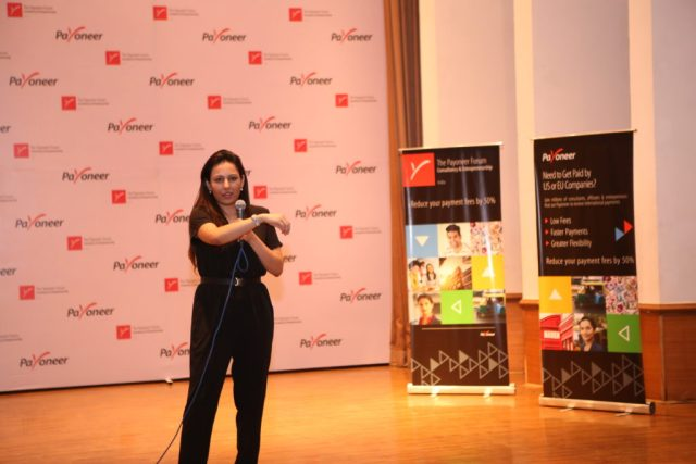 Ritu David at payoneer forum delhi India (2)