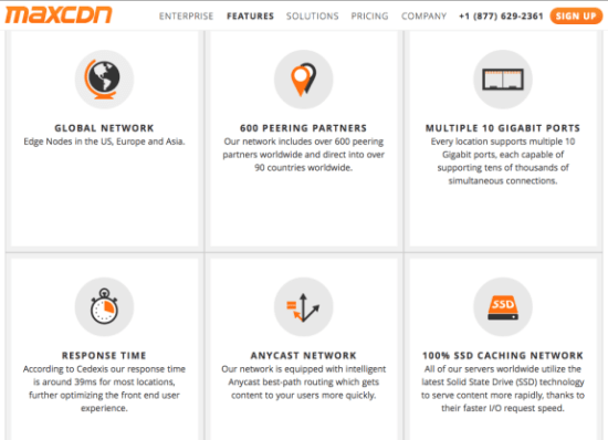 MaxCDN Detailed features