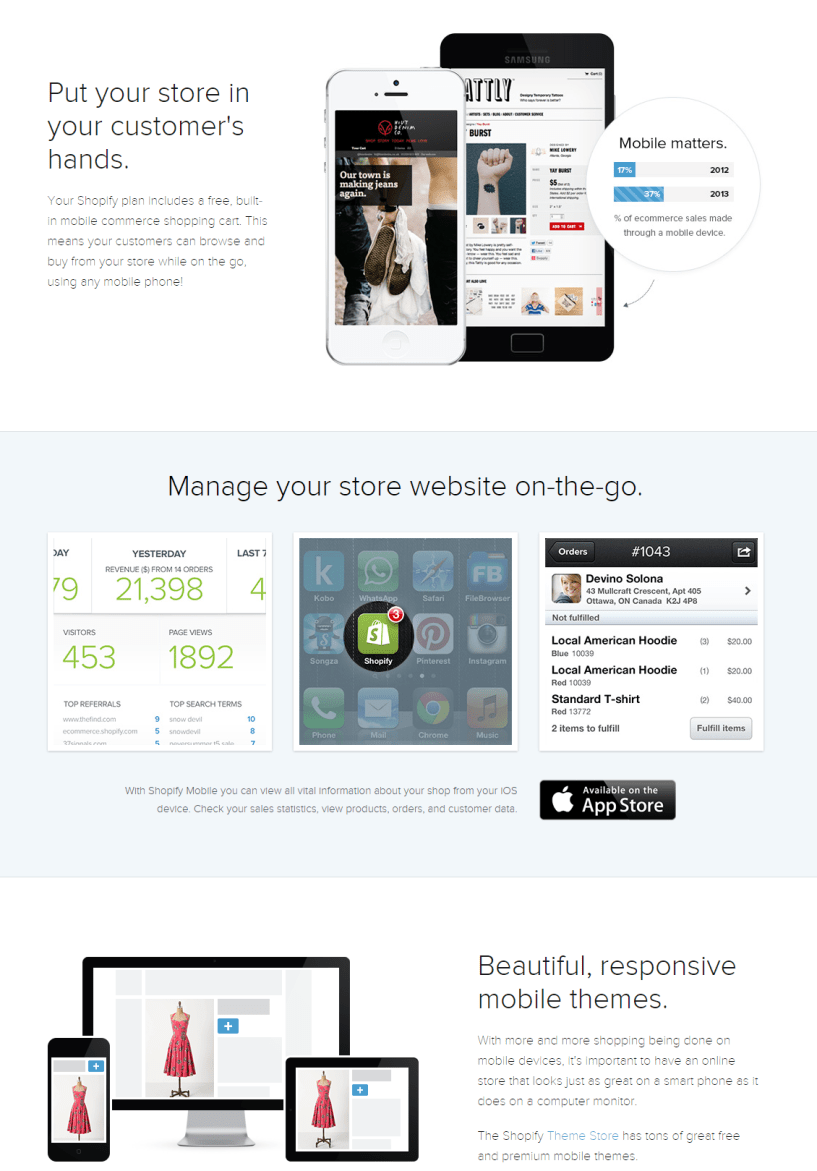 Shopify Mobile Friendly Website Builder