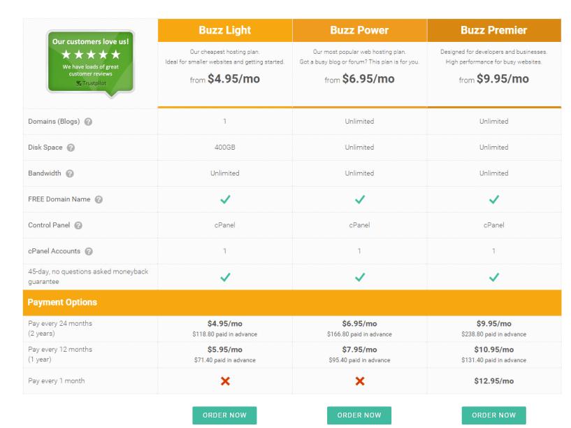 WebHostingBuzz Fast Web Hosting Reliable Hosting Plans