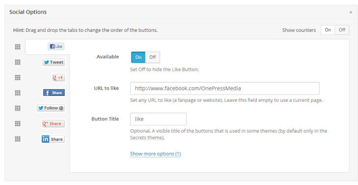 Social Locker Plugin Dashboard