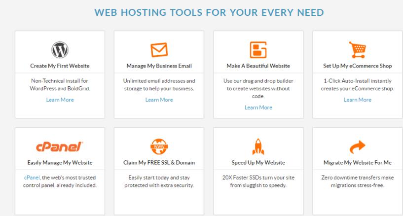 web hosting hub- tools