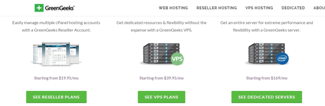 GreenGeeks Web Hosting VPS Hosting Reseller Hosting WordPress Hosting