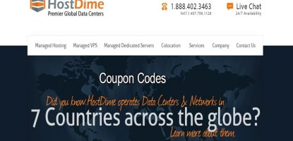 HostDime  coupon codes  promo codes discount codes