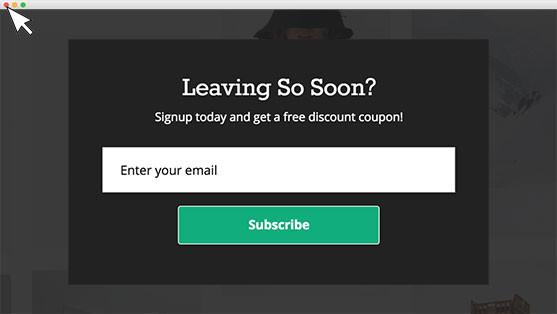 MailMunch Retain Leaving Visitors