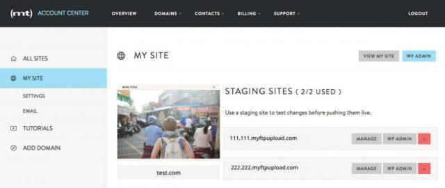 Media temple test account