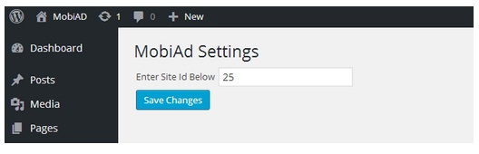 MobiAd review settings
