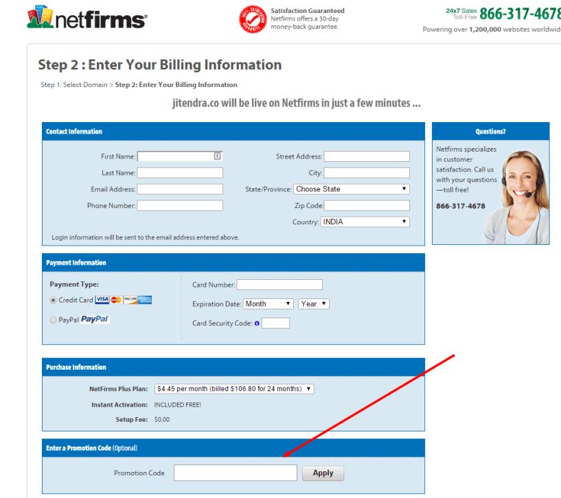 Netfirms Registration