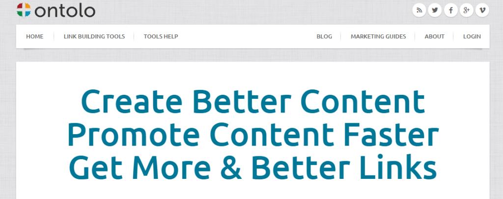 Ontolo Content Marketing Link Building SEO Tools