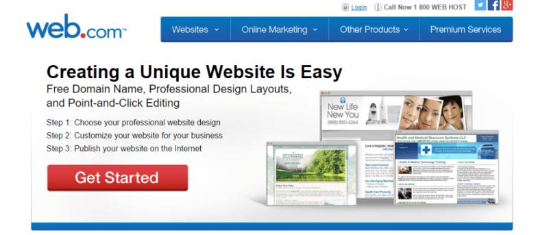 Web.com Make Your Own Website