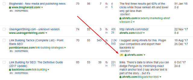 Ahrefs is a powerful backlink analyzer crawling pages
