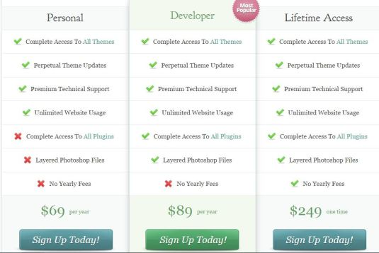 elegant themes review pricing
